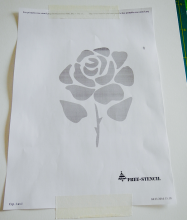 Rose Free stencil