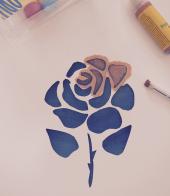Rose Pochoir