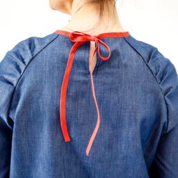 blouse stockholm en chambray détail du dos