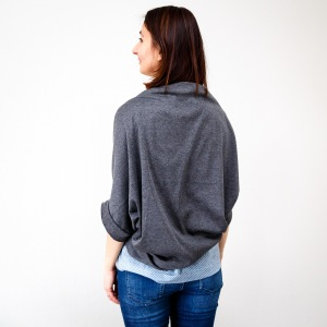 cardigan simply sewn et haut burda vue de dos