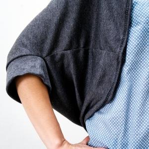 cardigan simply sewn detail manche